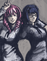 Misha and Shizune by Nameless1992