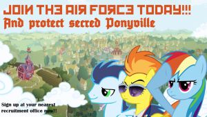 Ponyville airforce recruitment poster by RageRex
