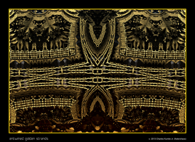 entwined golden strands by fraterchaos