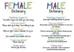 male/female dictionary by gamerma
