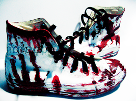 shoes - blood by monkeycap