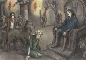 Finrod and Sauron by AnotherStranger-Me