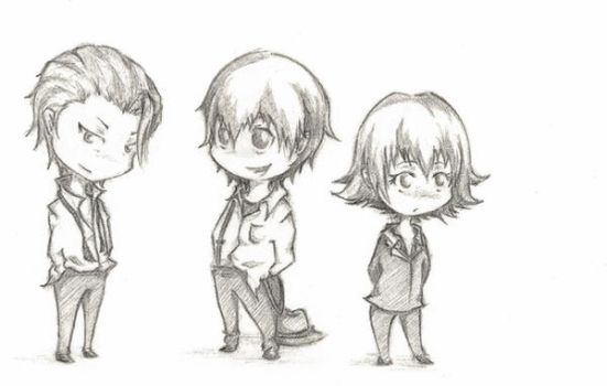 Practice Chibis - Baccano by Tiggerz