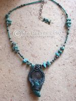 Turquoise Necklace by AmberCrystalElf