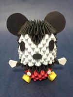 3-D Origami Mickey Mouse by pandanpandan