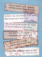Oscar Wilde Quotes Bookmarks by WildeMoon
