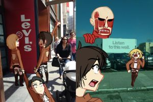 I drew on pics I took in San Fransisco by Toukoni
