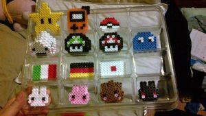 Hama beads presentation by Crissie-Ki