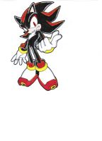 Shadow the Hedgehog colouring try 2 by Shadilverfan55