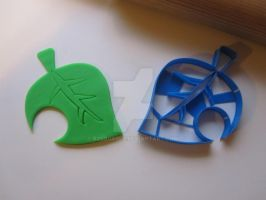 Animal Crossing Leaf Cookie Cutter 01 by B2Squared