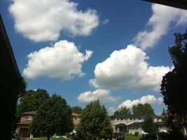 Summertime Cloud Houses by dlighted