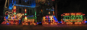 Santa and his Train Panorama by WDWParksGal-Stock