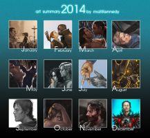 2014 art summary by maXKennedy