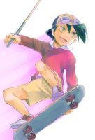 Gold's skateboard by Luppia