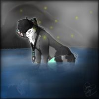 I will stay in the rain... by YumiTheWolf