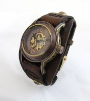 Steampunk Mechanical Watch by dravensinferno