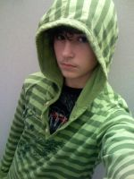 Emo kid in green 3 by claytonwoolery