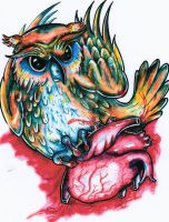 Owl Heart - Version 2 by ponychops