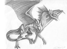 Black Dragon black and white by creativegoth18