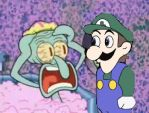 Squidward and Weegee by HyperEspio