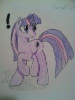 Twilight Sparkle - Colored Pencil '!' by Zilford-the-legend