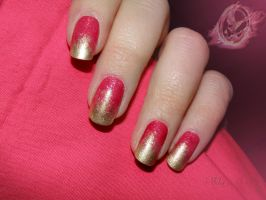 Effie Trinket nails by IdaBlack
