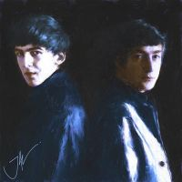 JOHN AND GEORGE IN HAMBURG by JALpix