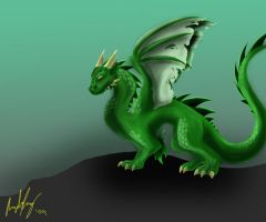 Green Dragon by AutumnFur
