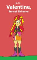 Be My Valentine, Sunset Shimmer poster by HunterxColleen
