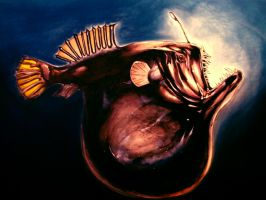 Deep Sea Angler fish large by dfbovey