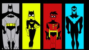 DC AM:The New Batman Adventures Batman Family by bat123spider