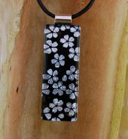 Silver Blossoms Fused Glass by FusedElegance
