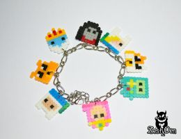 Adventure time perler hama beads sprite bracelet by zestyden