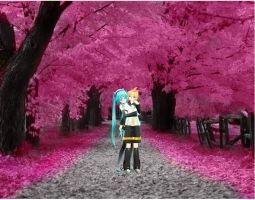 Young Love at the Sakura Forest by VocaloidWorldMMD