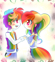 let me dance with you  Rainbow x Blitz by FerzyPPGD