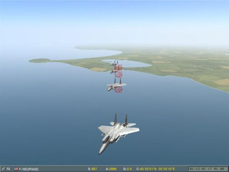 F-15 in Formation by shonenred