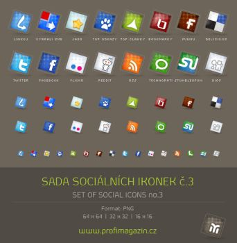 Set of social icons no.2 by Tydlinka