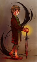 Dark Lord Bilbo by mangoranger