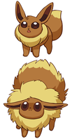 Pokemon - Eevee Poof by rasenth