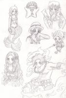 One Piece Sketches by Luffy-x-Ryusaki