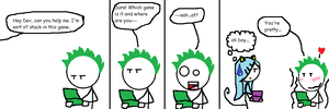 Stick dude comix 18--- dev's reaction by TheGame22q