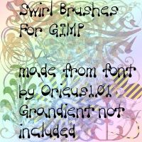 Swirl Brushes For GIMP by Orieus101