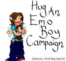 Hug An Emo Boy Campaign by her-ickleness