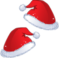 Santa Hats for Chibis! ::FREE DOWNLOAD:: by YamPuff