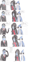 Mordecai meets Marceline's dad by WaRrior9100