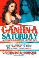 Cantina Saturday Poster flyer by DeityDesignz