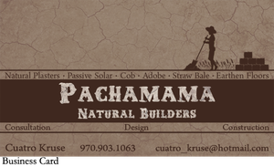Business card Patchamama Natural Building by colormecrazi