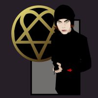 Ville Valo from H.I.M. by jpellegrin