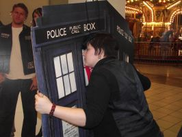 Trent wishing he could go home with the Tardis by Electric-Rainbow93