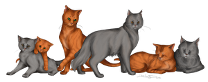 Circle of Life - Fireheart and Greystripe by Thilil